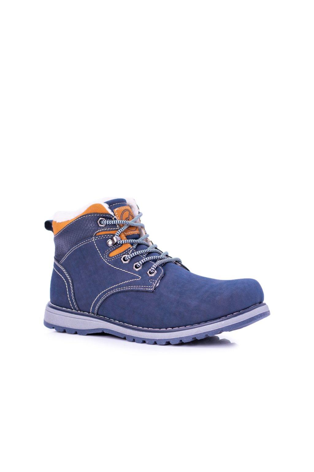 Teplé tmavo modré panské Trekkingové topánky Nuss