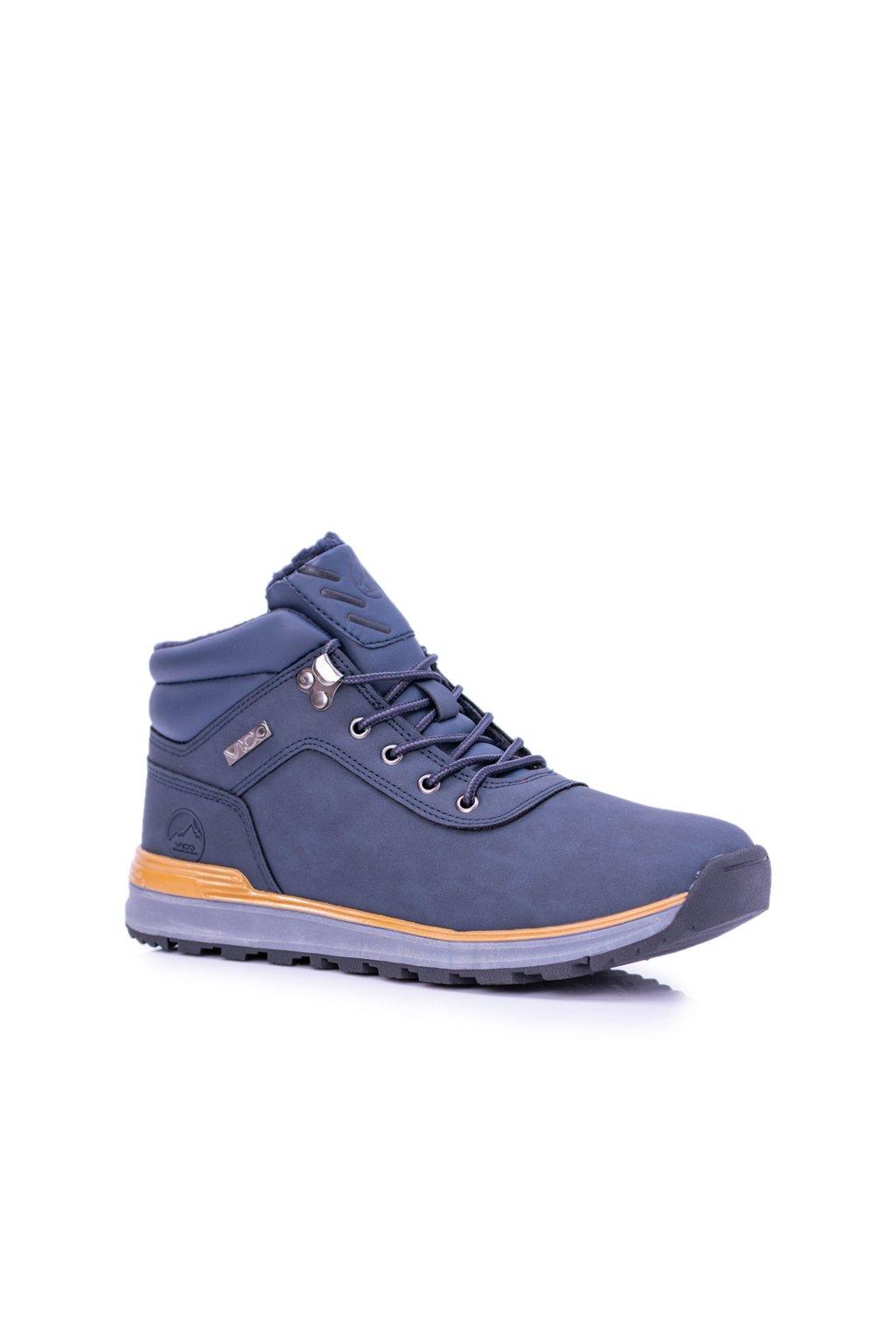 Pánske trekingové topánky farba modrá kód obuvi VOP18D05-3 NAVY