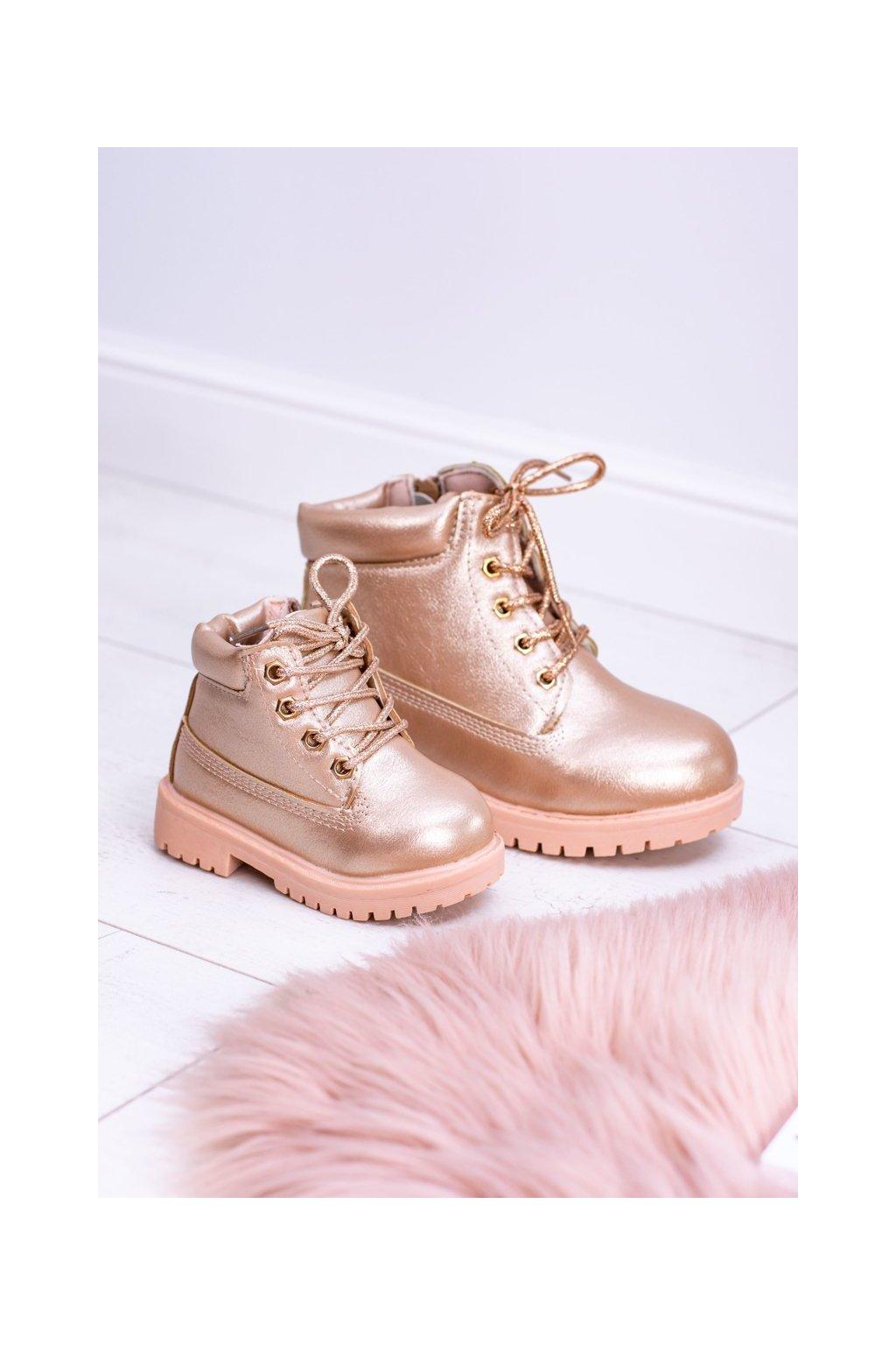 Detské členkové topánky farba ružová kód obuvi 20305-1H/2H CHAMPAGNE
