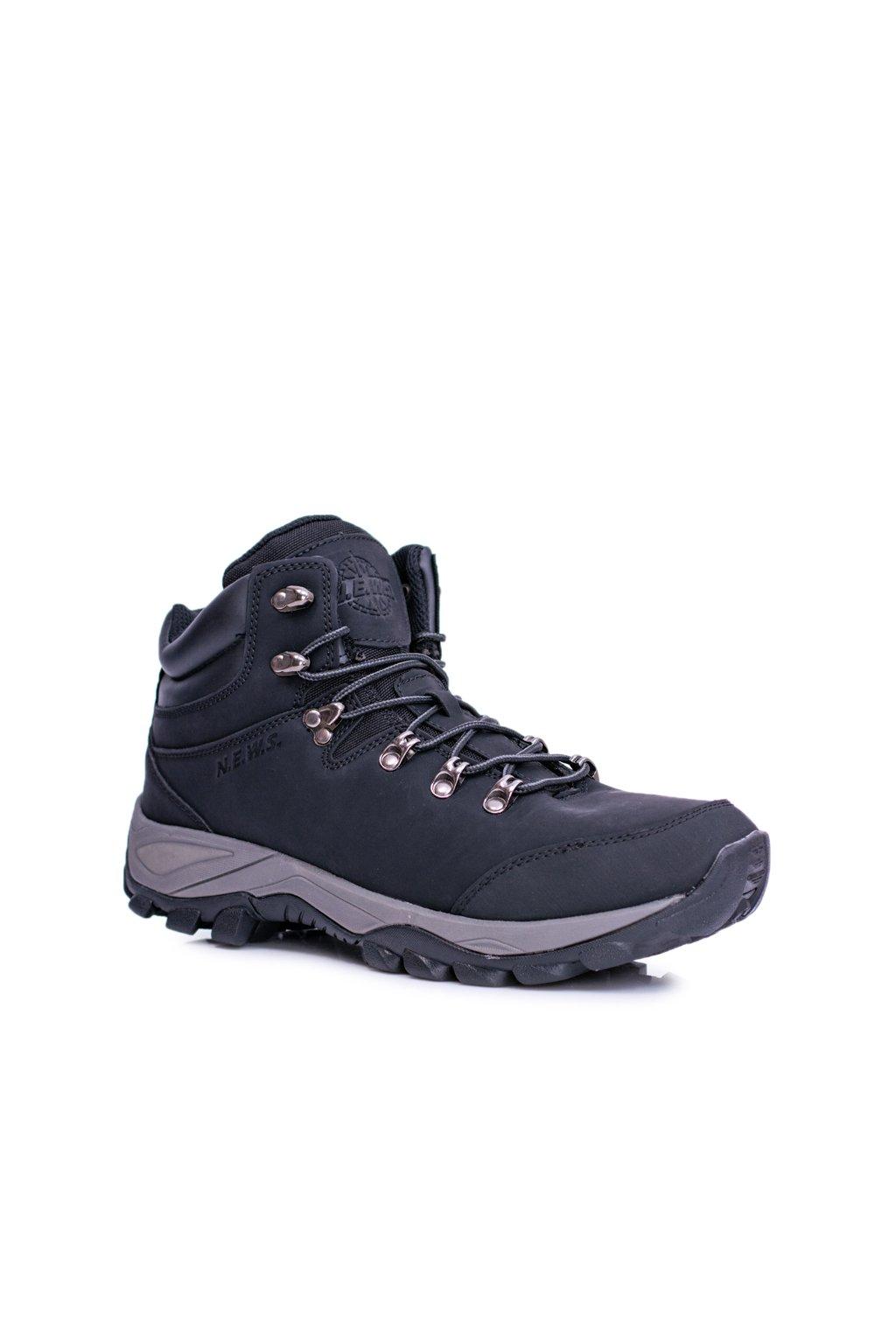 Pánske trekingové topánky farba čierna kód obuvi 7TR85-0099 BLK