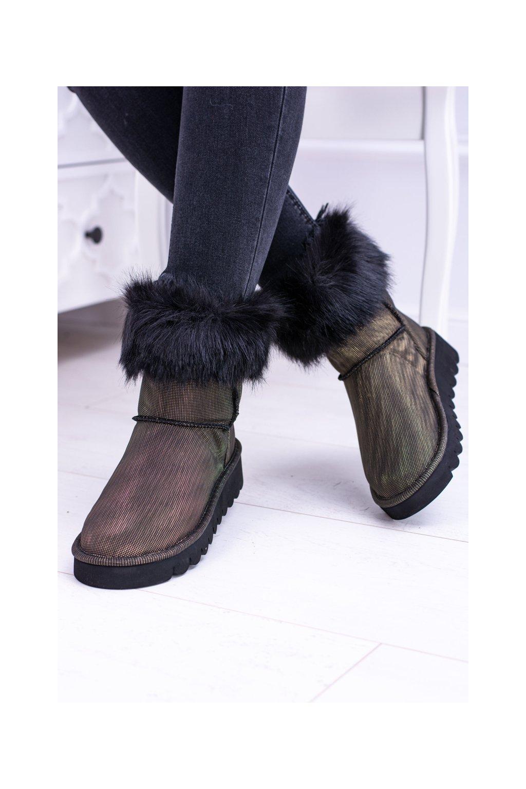 Dámske snehové topánky vysoké s kožušinou Fourrure