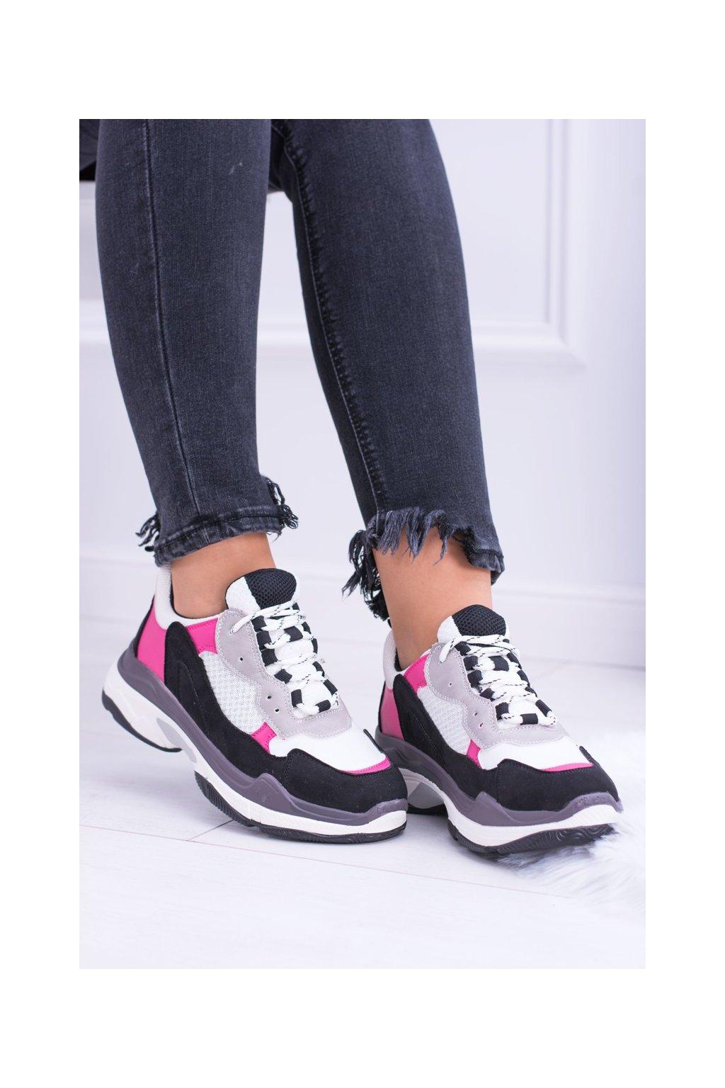 Dámske tenisky farba biela kód obuvi KP8877 WHITE