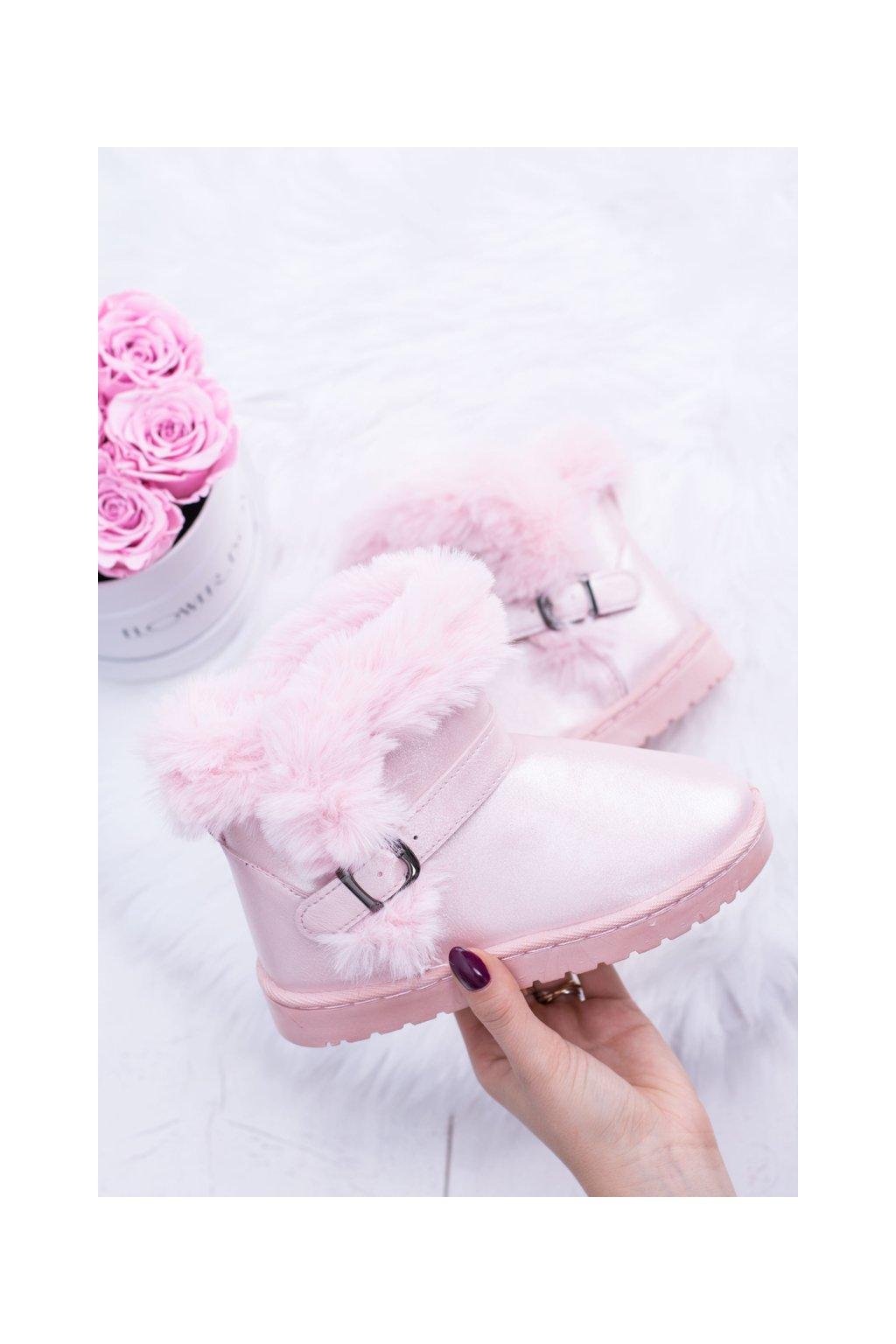 Detské snehule farba ružová kód obuvi 20221-1C PINK