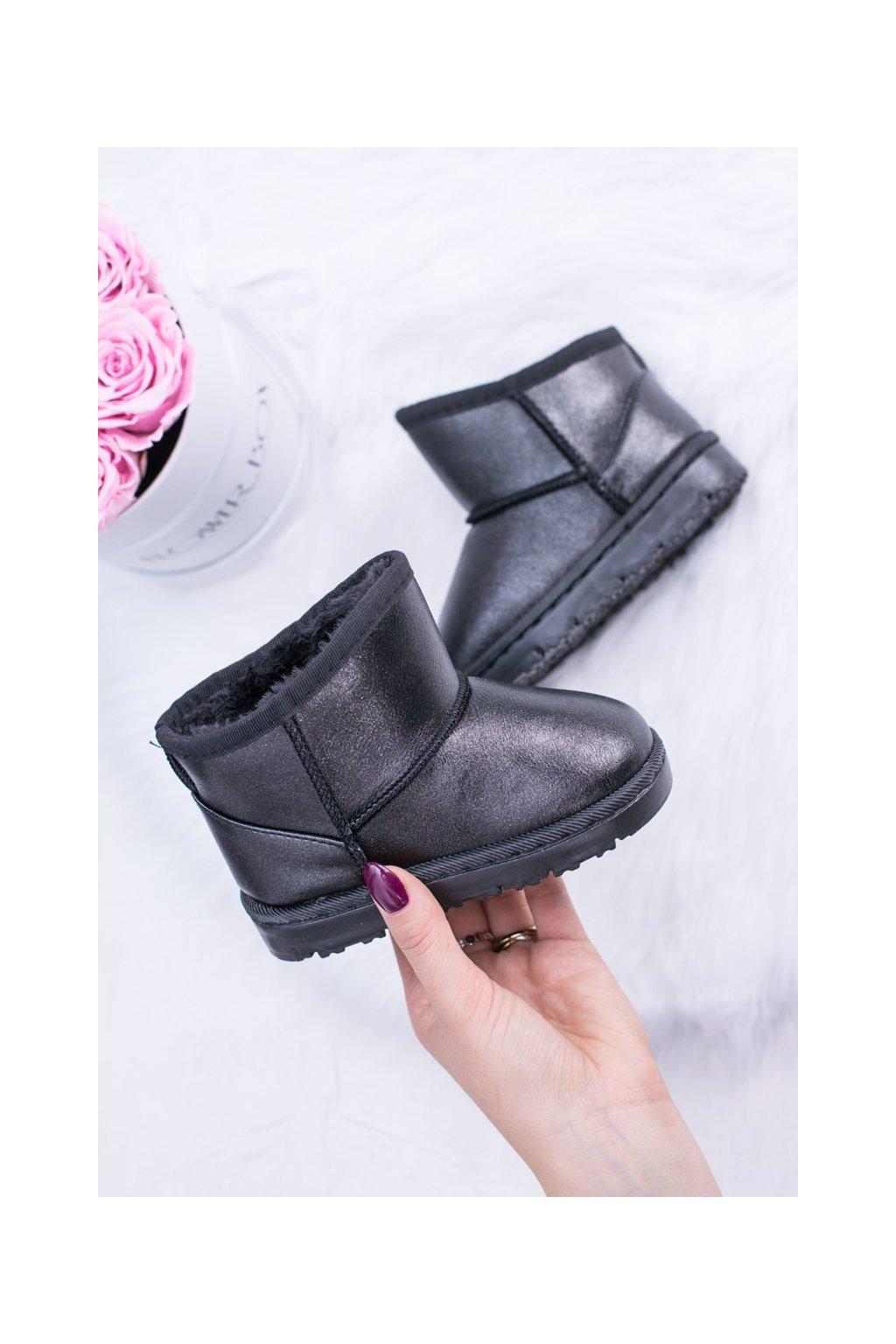 Detské snehule farba čierna kód obuvi 20220-1A/2A BLK
