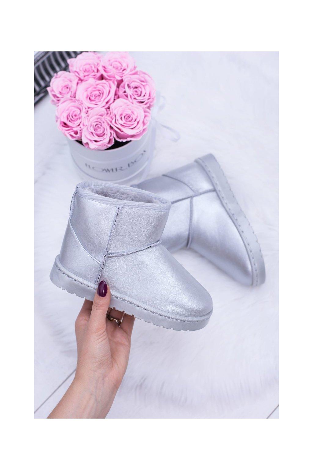 Detské snehule farba sivá kód obuvi 20220-1G/2G SILVER
