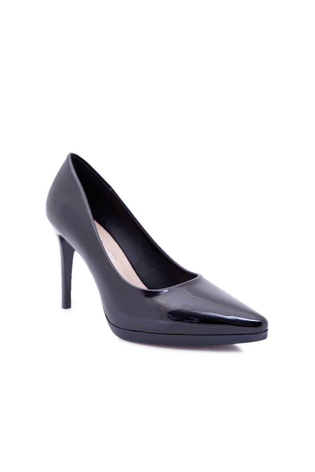 Dámske lodičky farba čierna kód obuvi 1466 BLK LAK