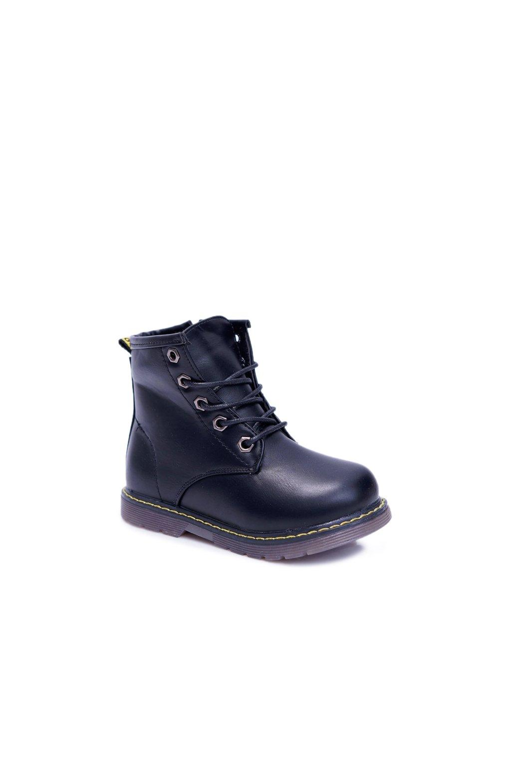 Detské členkové topánky farba čierna kód obuvi 20312-2A ALL BLK