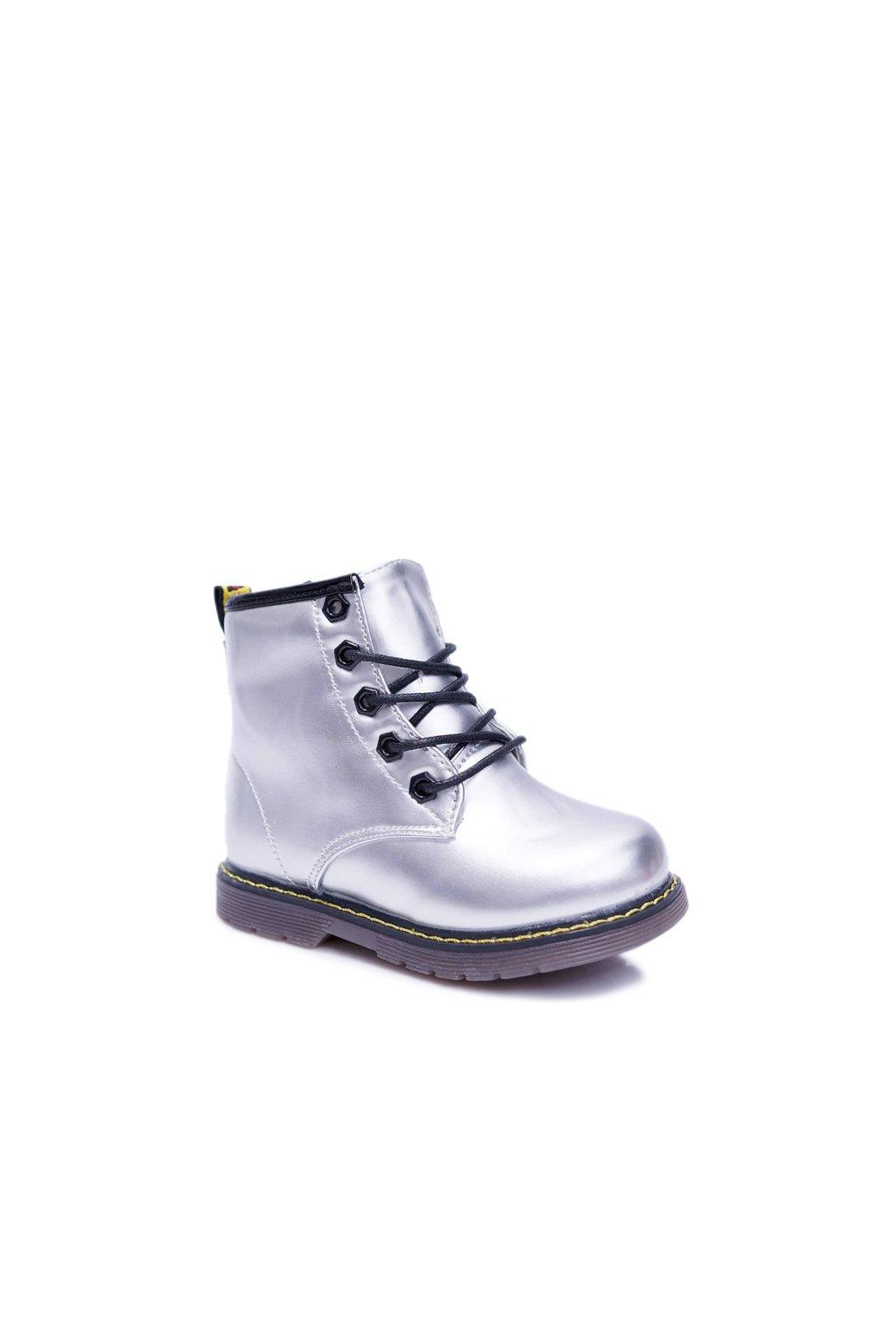Detské členkové topánky farba sivá kód obuvi 20310-2G SILVER