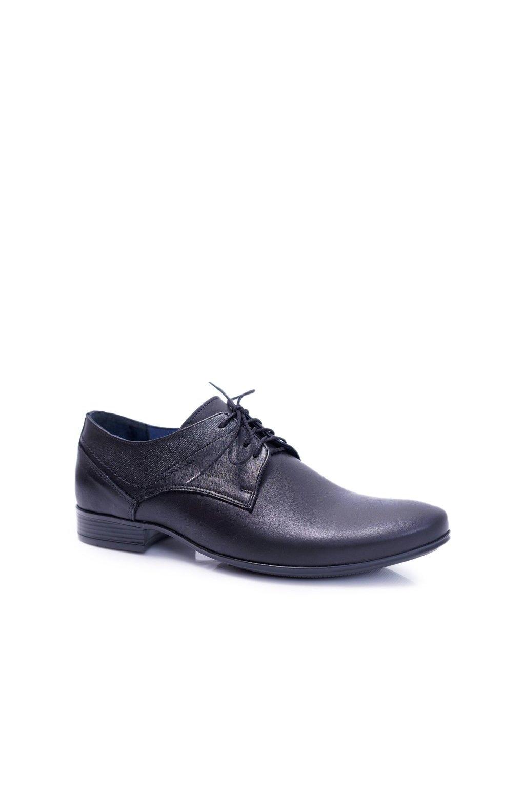 Pánske poltopánky farba čierna kód obuvi 1622 BLK