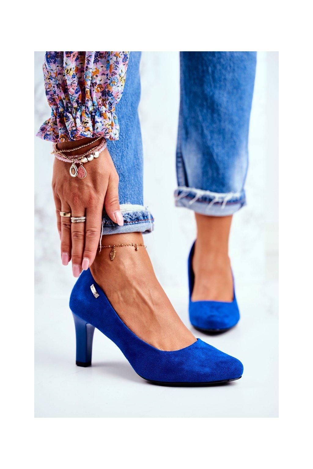 Dámske lodičky farba modrá kód obuvi 1459 INDIGO MIC