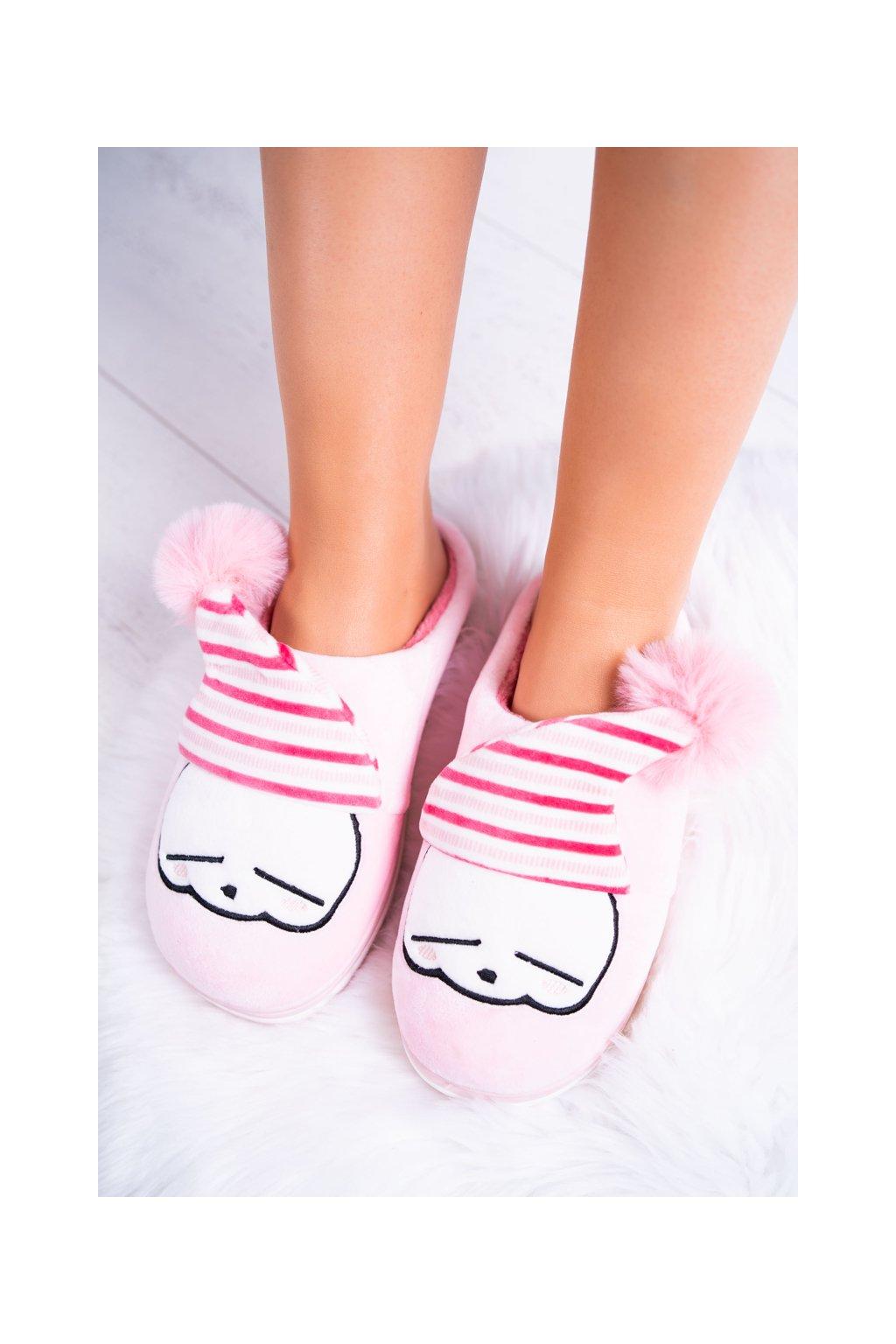 Dámske papuče na doma svetlo ružové Mashimaro