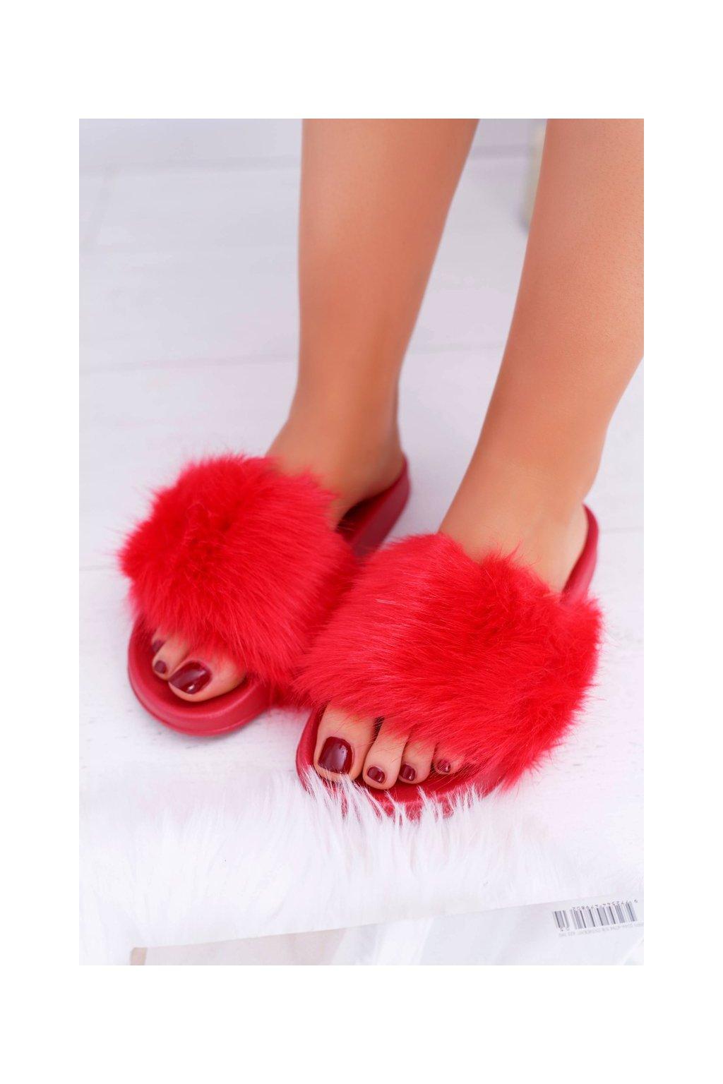 Dámske šľapky farba červená kód obuvi ZD800-28 B.RED