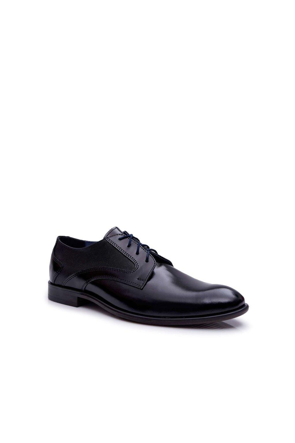 Pánske poltopánky farba čierna kód obuvi 638 TOSCA