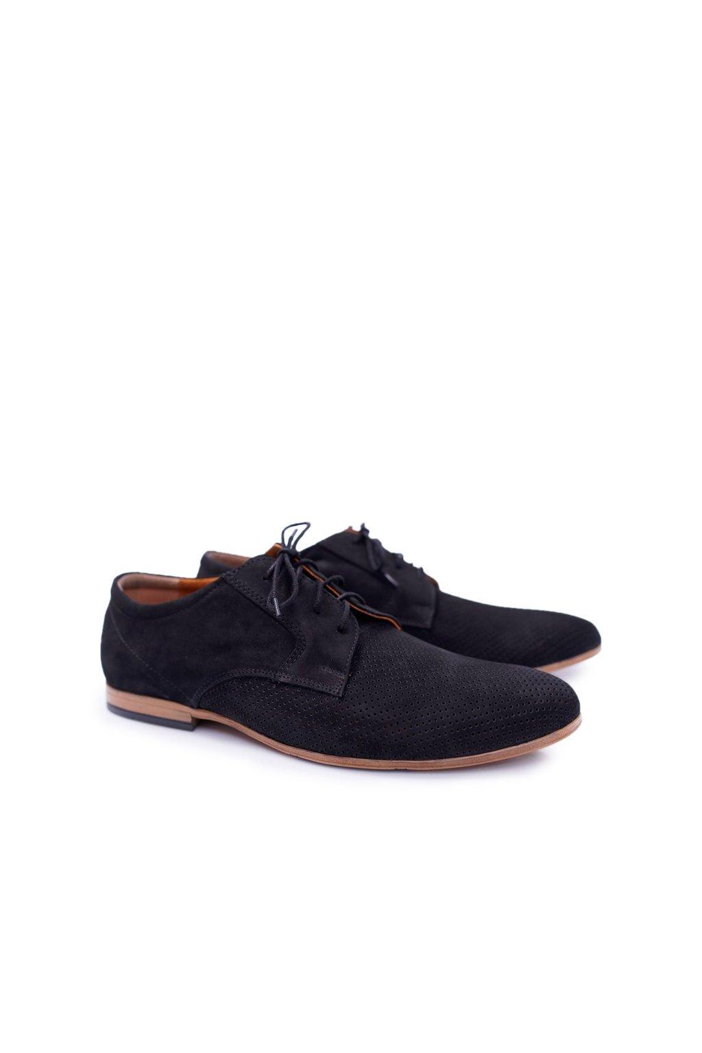 Pánske poltopánky farba čierna kód obuvi 587 BLK