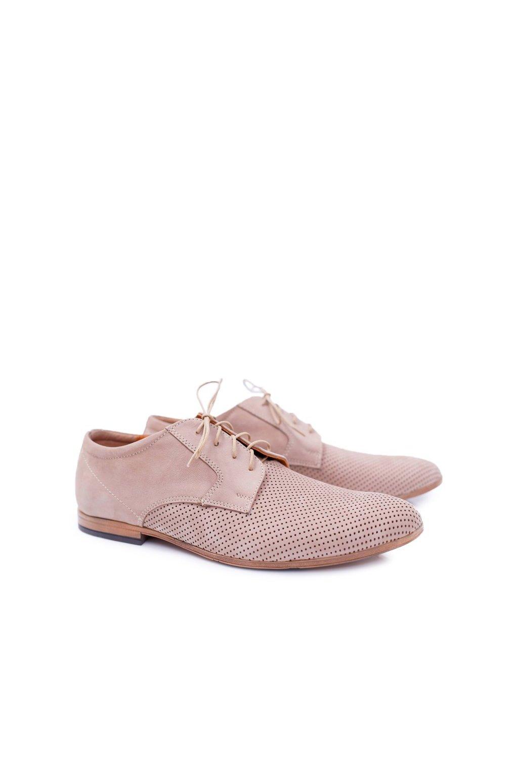 Pánske poltopánky farba hnedá kód obuvi 587 BEŻ