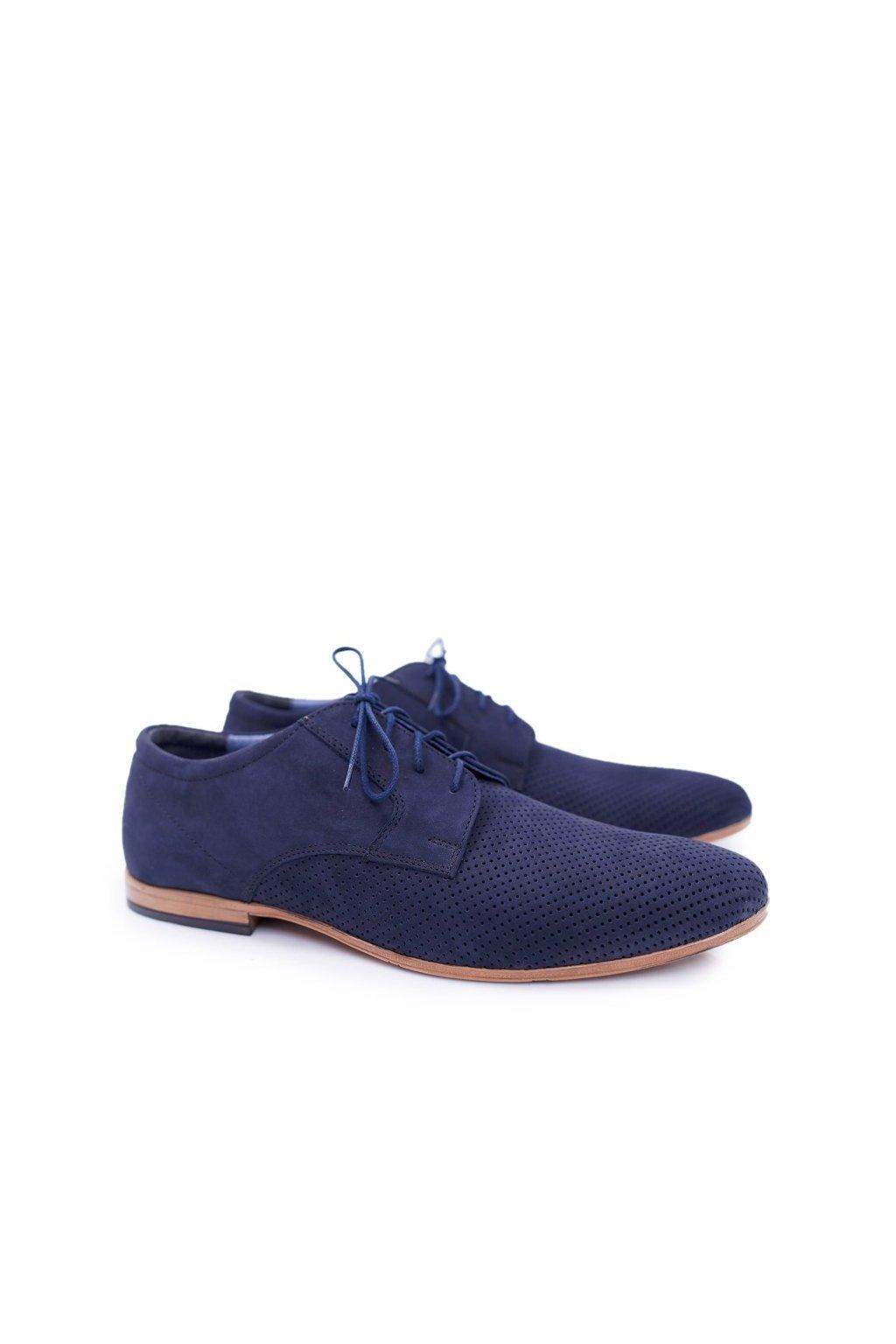 Pánske poltopánky farba modrá kód obuvi 587 NAVY