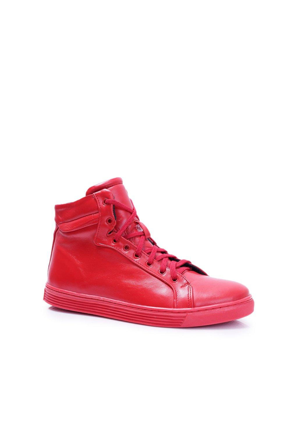 pánske kožené topánky Bednarek Červené Edys