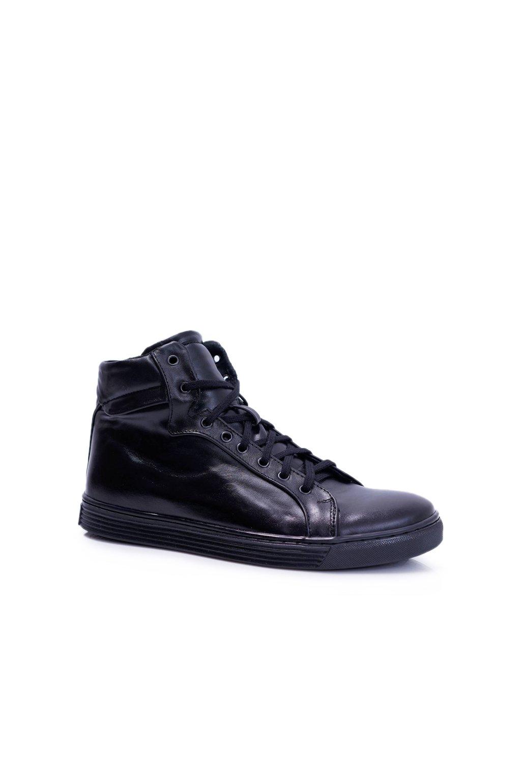 pánske kožené topánky Bednarek čierne Edys