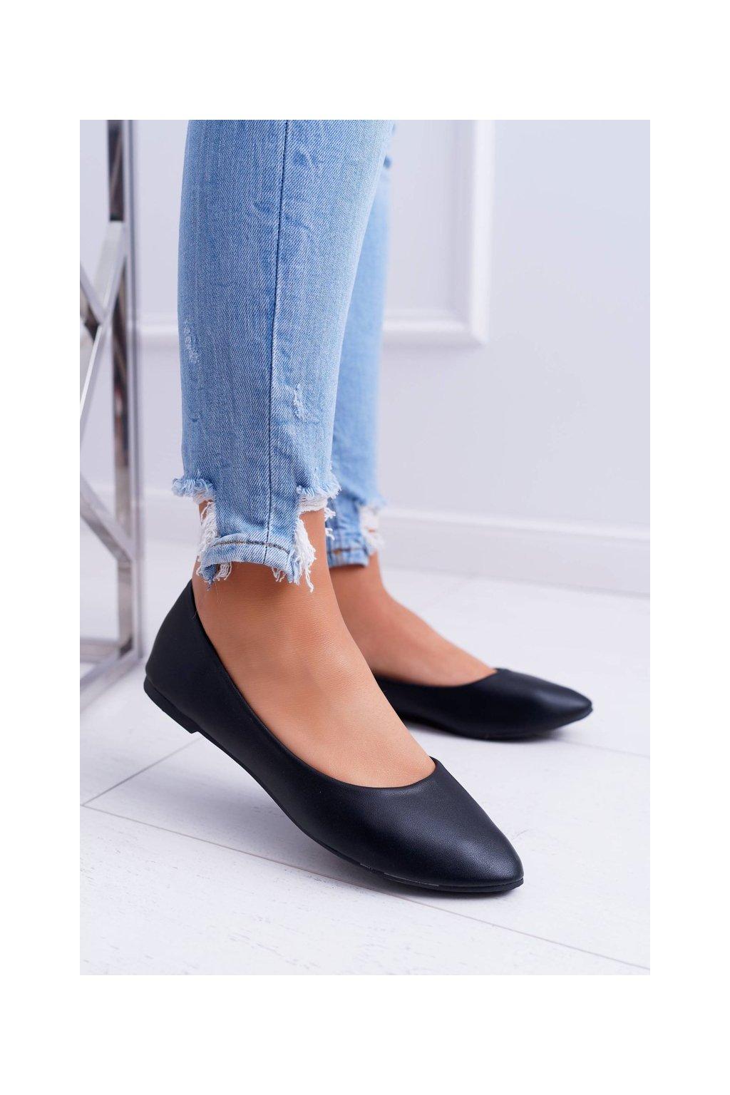 Dámske balerínky farba čierna kód obuvi CC108P BLK