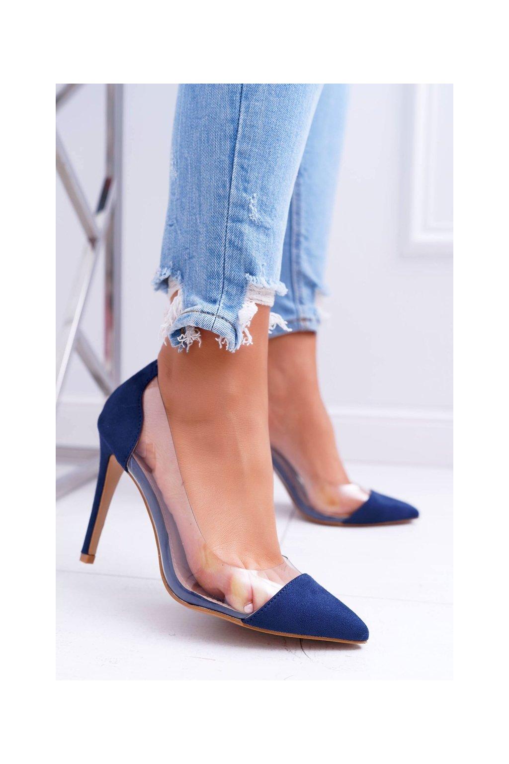 Dámske lodičky farba modrá kód obuvi 9003 NAVY