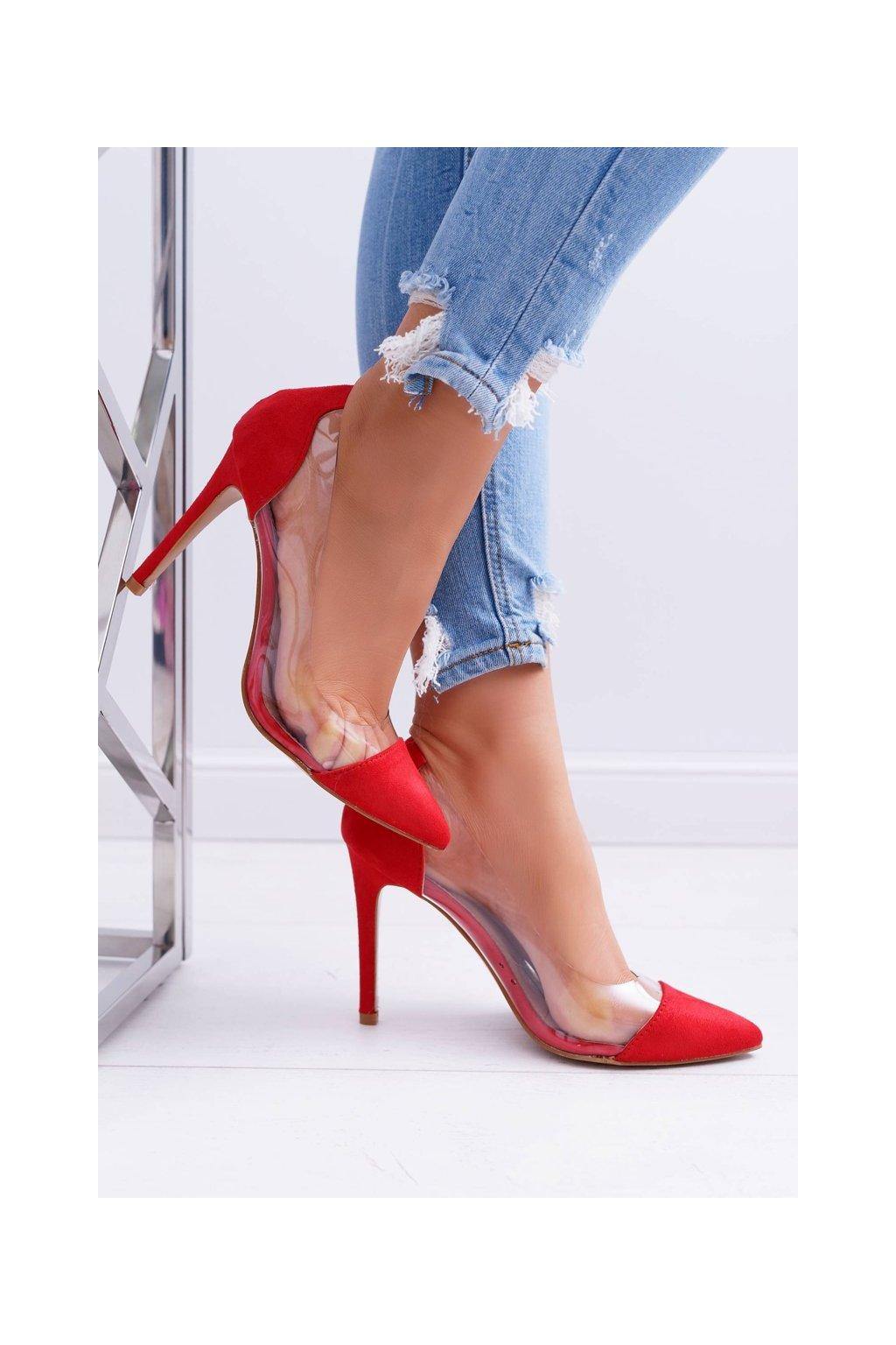 Dámske lodičky farba červená kód obuvi 9003 RED