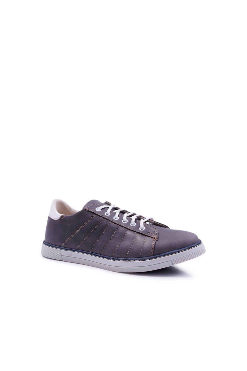 Pánske poltopánky farba sivá kód obuvi N401B GREY