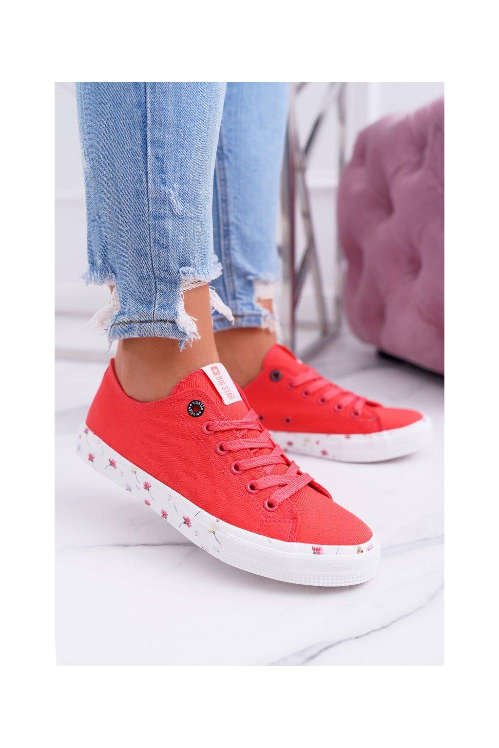 Dámske tenisky farba červená kód obuvi DD274709 RED