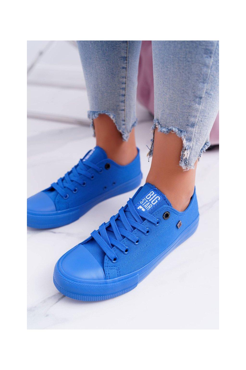 Dámske tenisky farba modrá kód obuvi AA274011 DK.BLUE