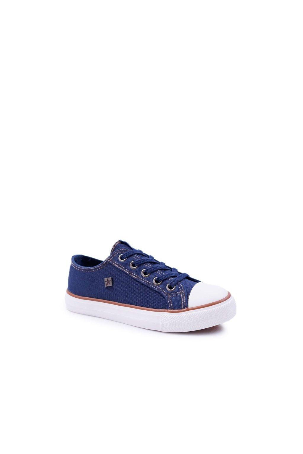 Detské tenisky farba modrá kód obuvi DD374086 NAVY