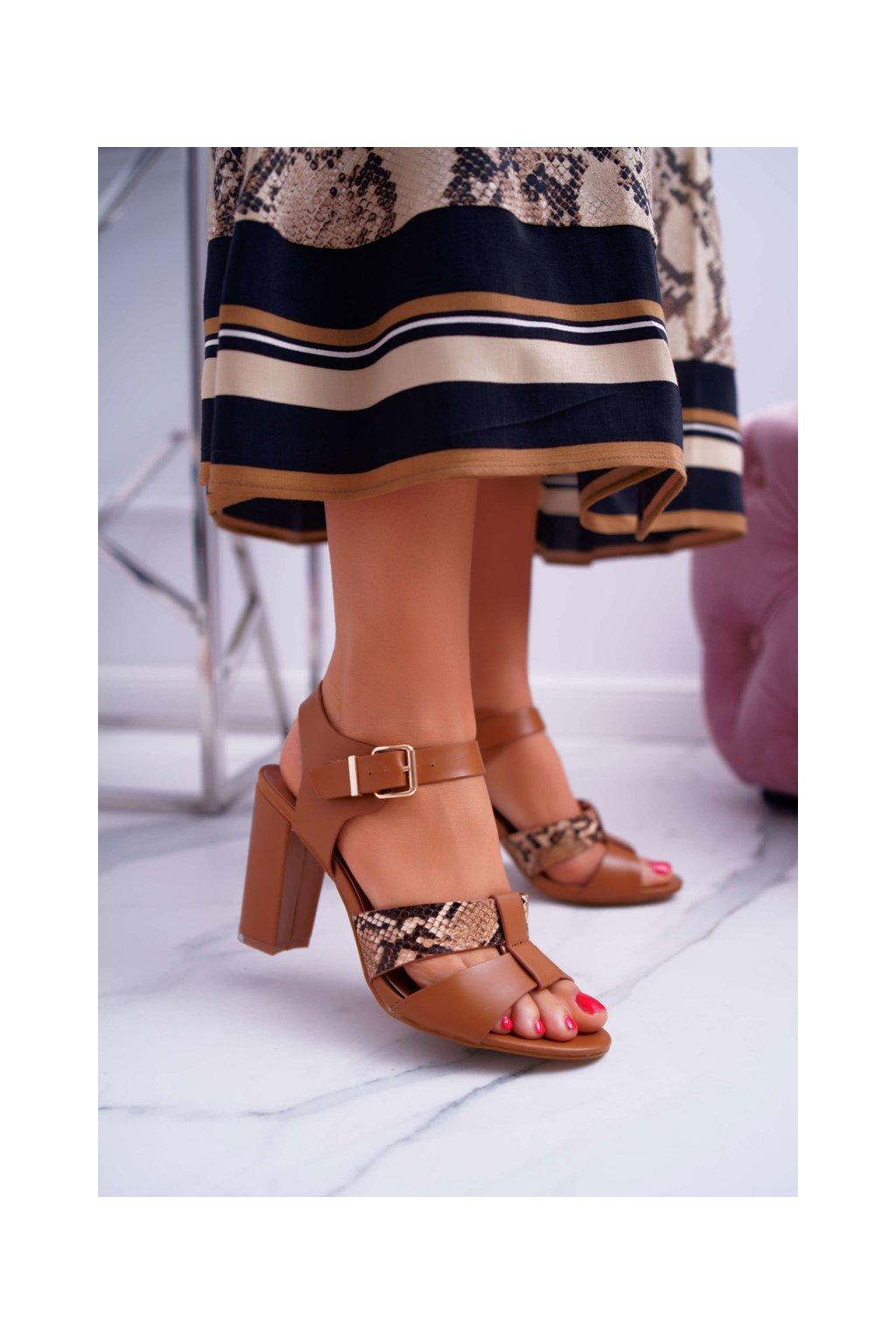 Dámske Sandále Podpatku elegantné ťavia Stephani