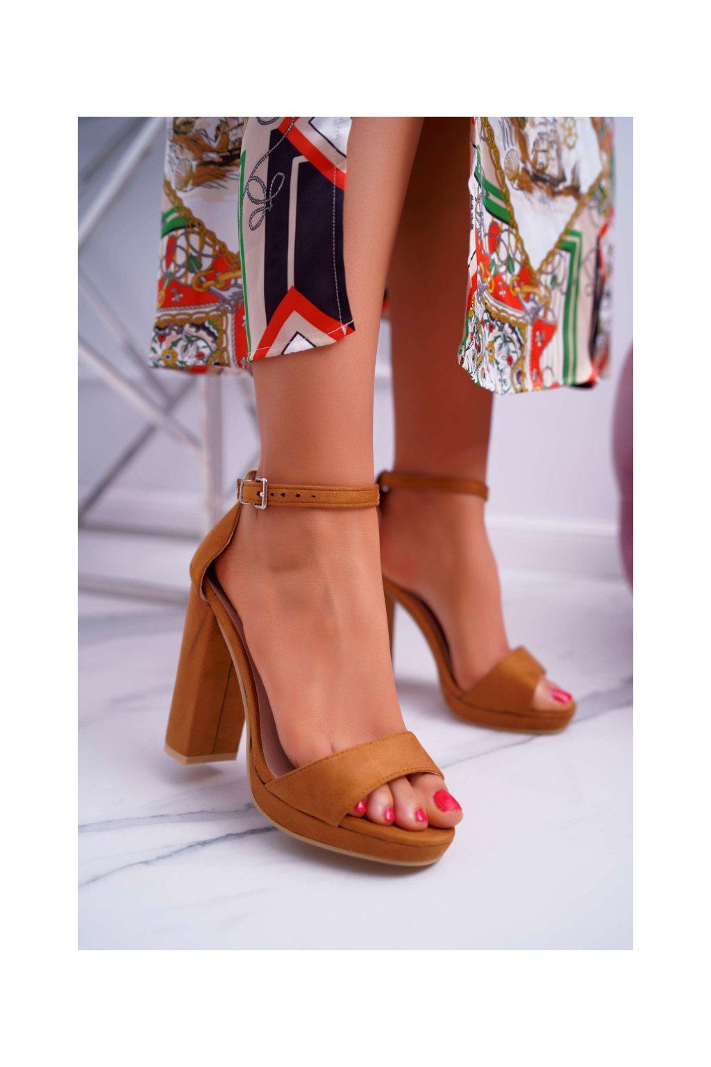 Dámske ťavia semišové Sandále na plošine Debora