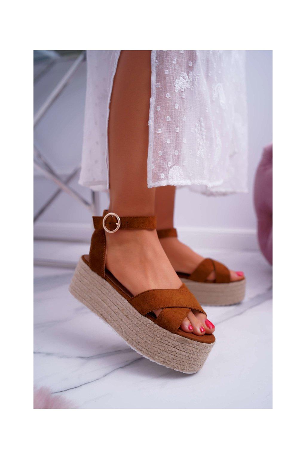 Dámske Sandále na platforme ťavia Dafostre