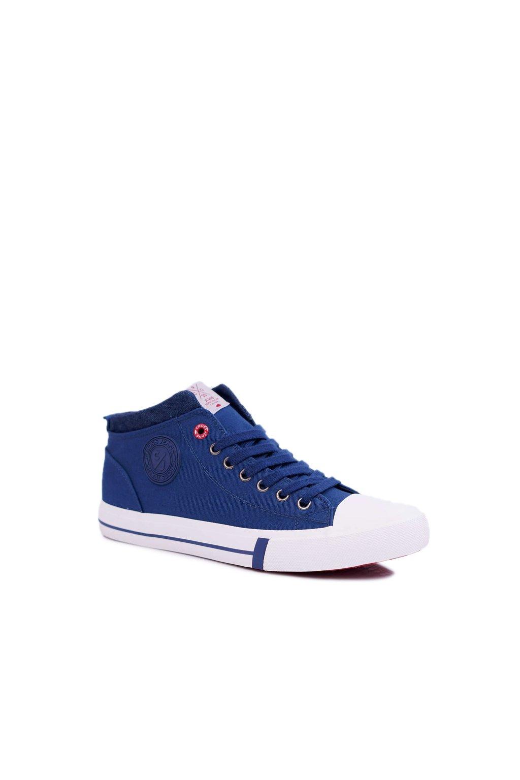 Pánske tenisky Vysoké Cross Jeans Textilní tmavo modré DD1R4057