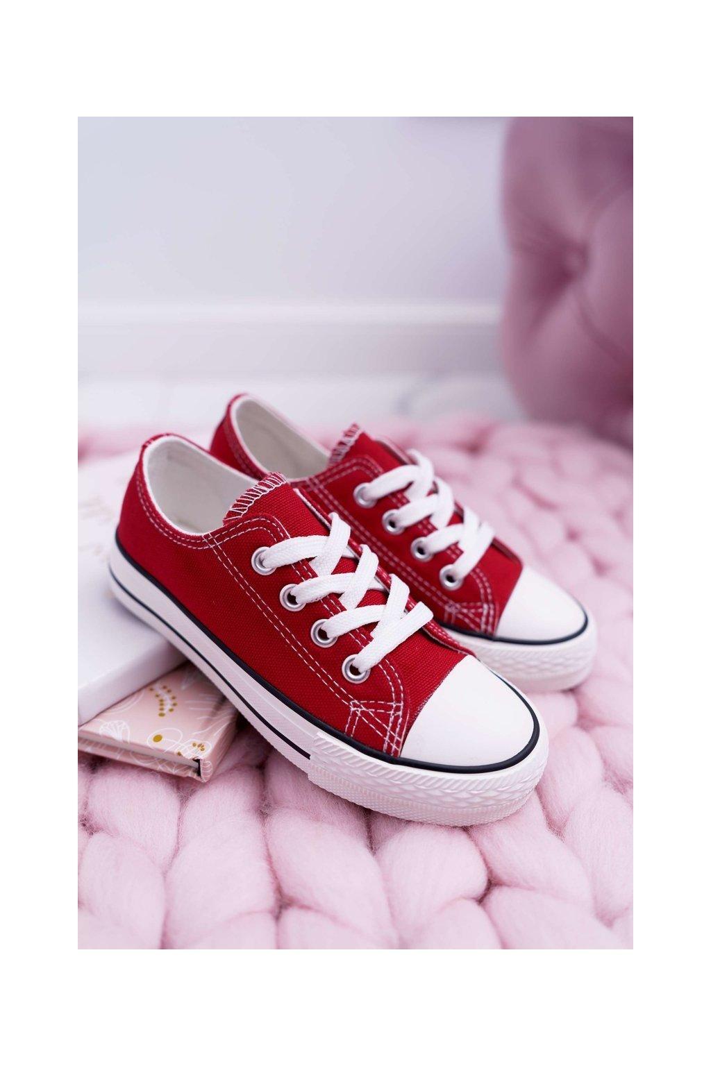 Detské tenisky farba červená kód obuvi 860 RED