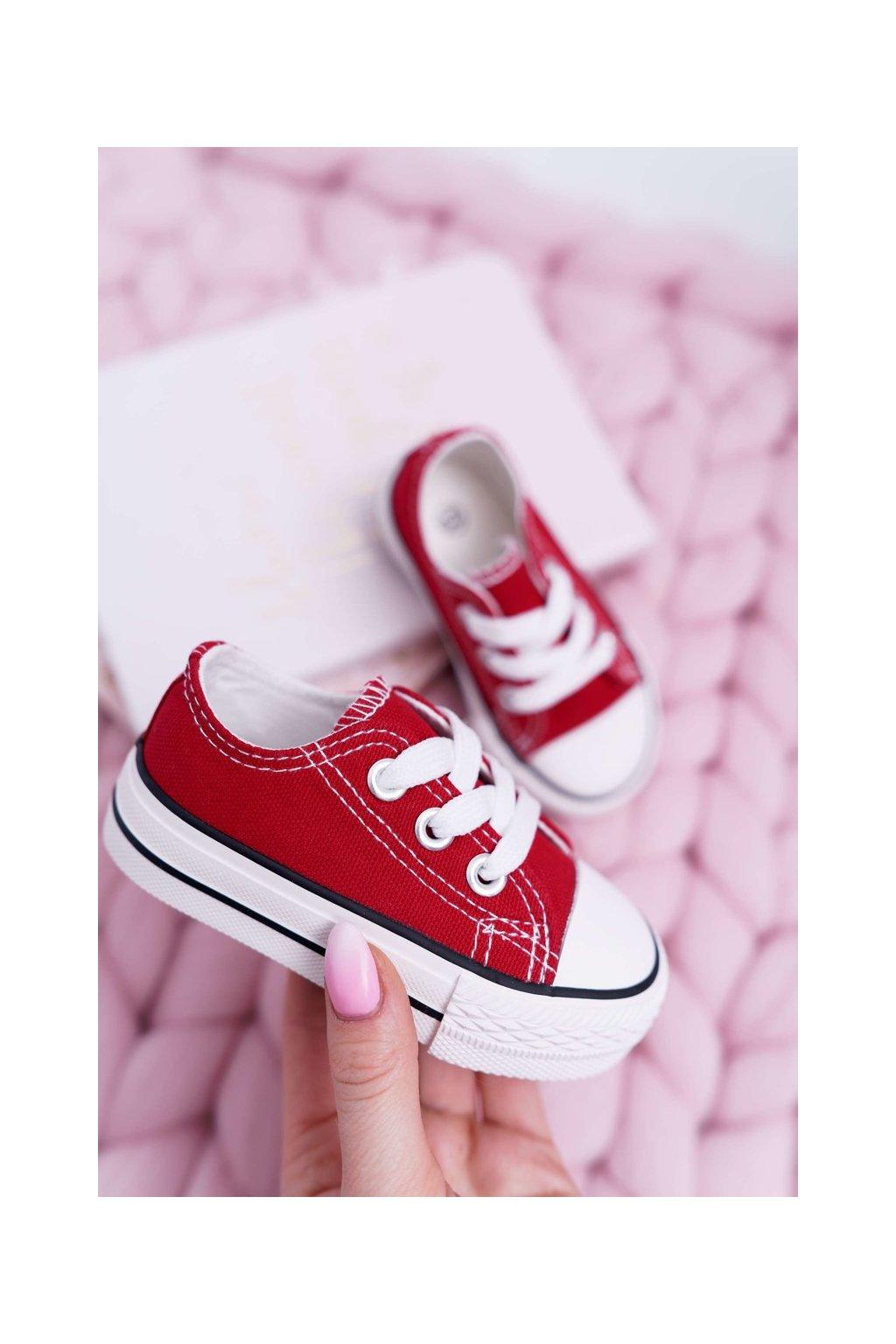 Detské tenisky farba červená kód obuvi 860-E RED