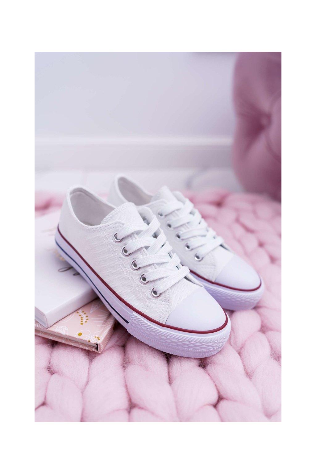 Detské tenisky farba biela kód obuvi 860 WHITE