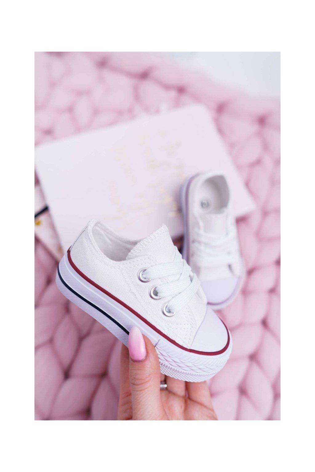 Detské tenisky farba biela kód obuvi 860-B WHITE