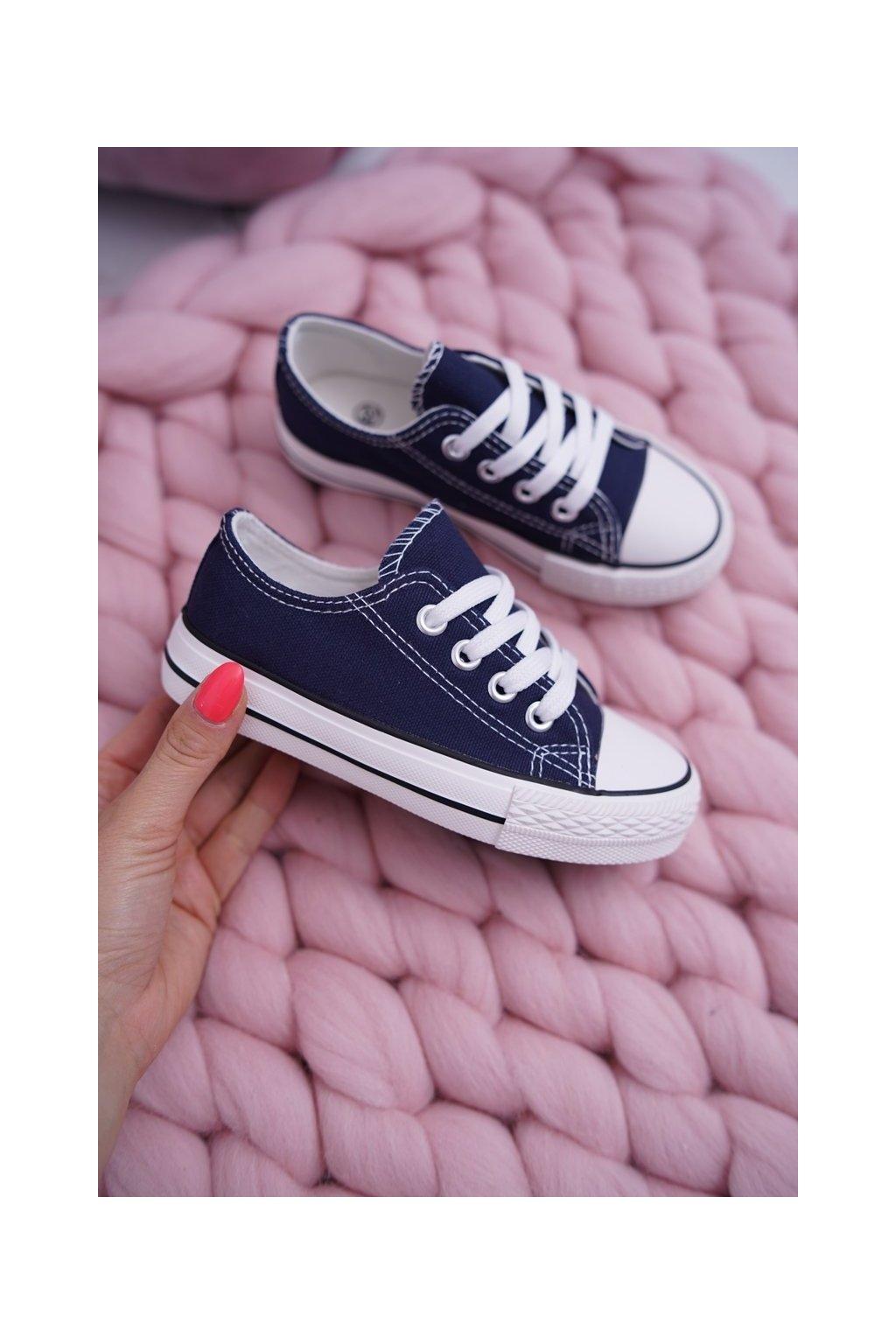 Detské tenisky farba modrá kód obuvi 860 NAVY