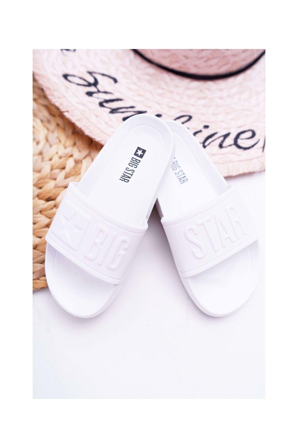 Detské šľapky farba biela kód obuvi DD374154 WHITE
