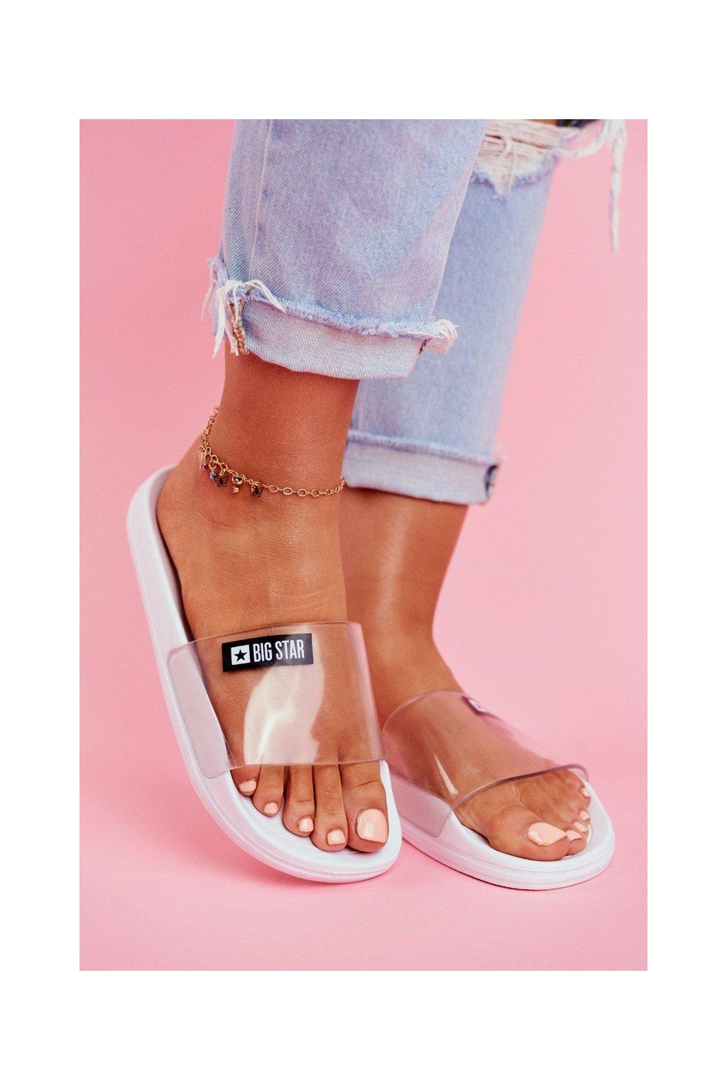 Dámske šľapky farba biela kód obuvi DD274A258 WHITE