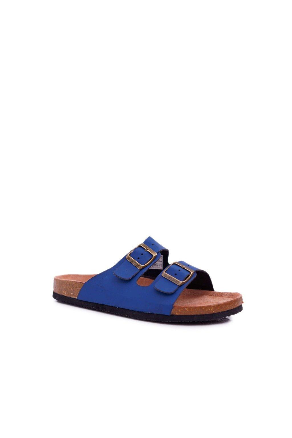 Pánske šľapky farba modrá kód obuvi DD174604 NAVY