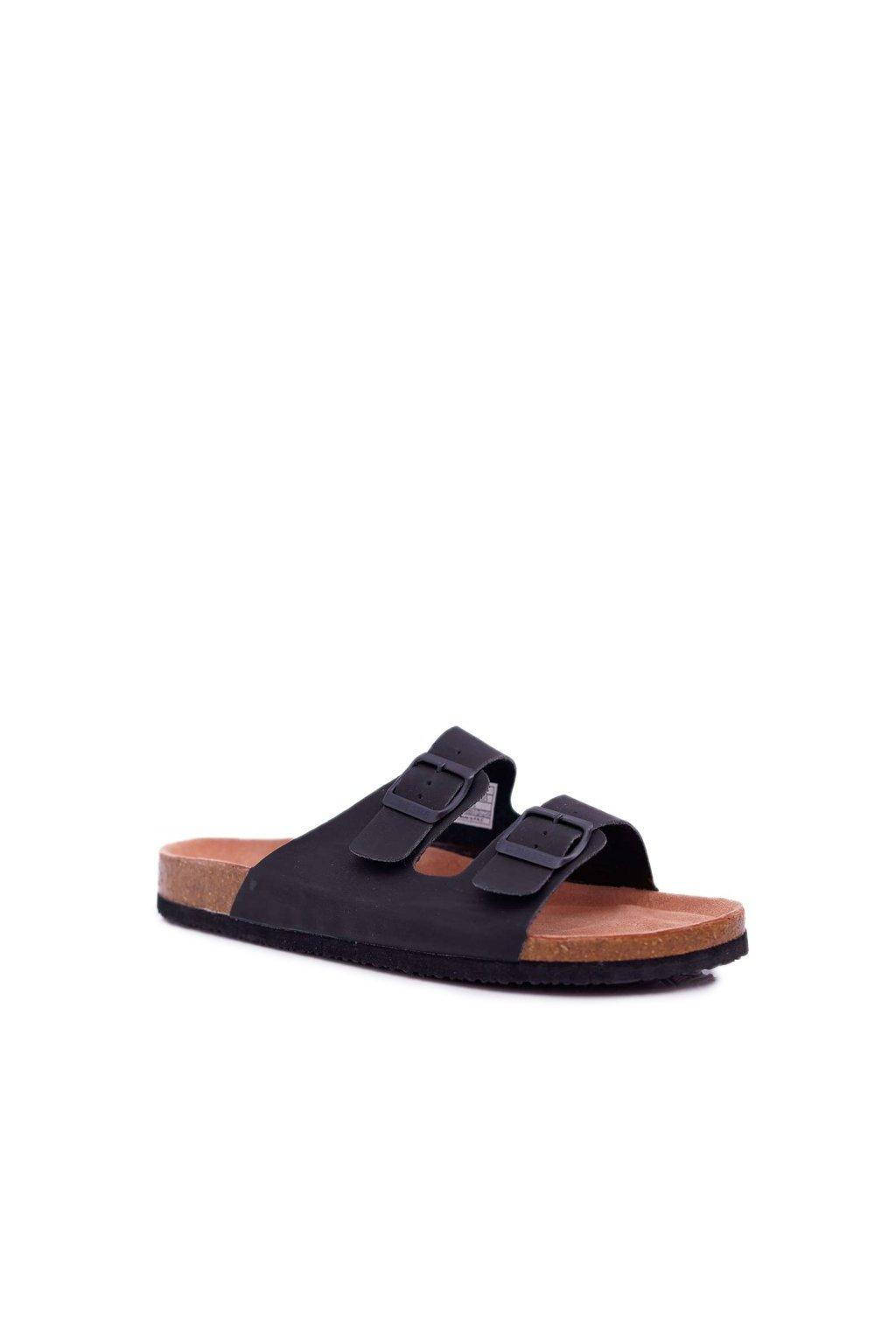 Pánske šľapky farba čierna kód obuvi DD174605 BLK