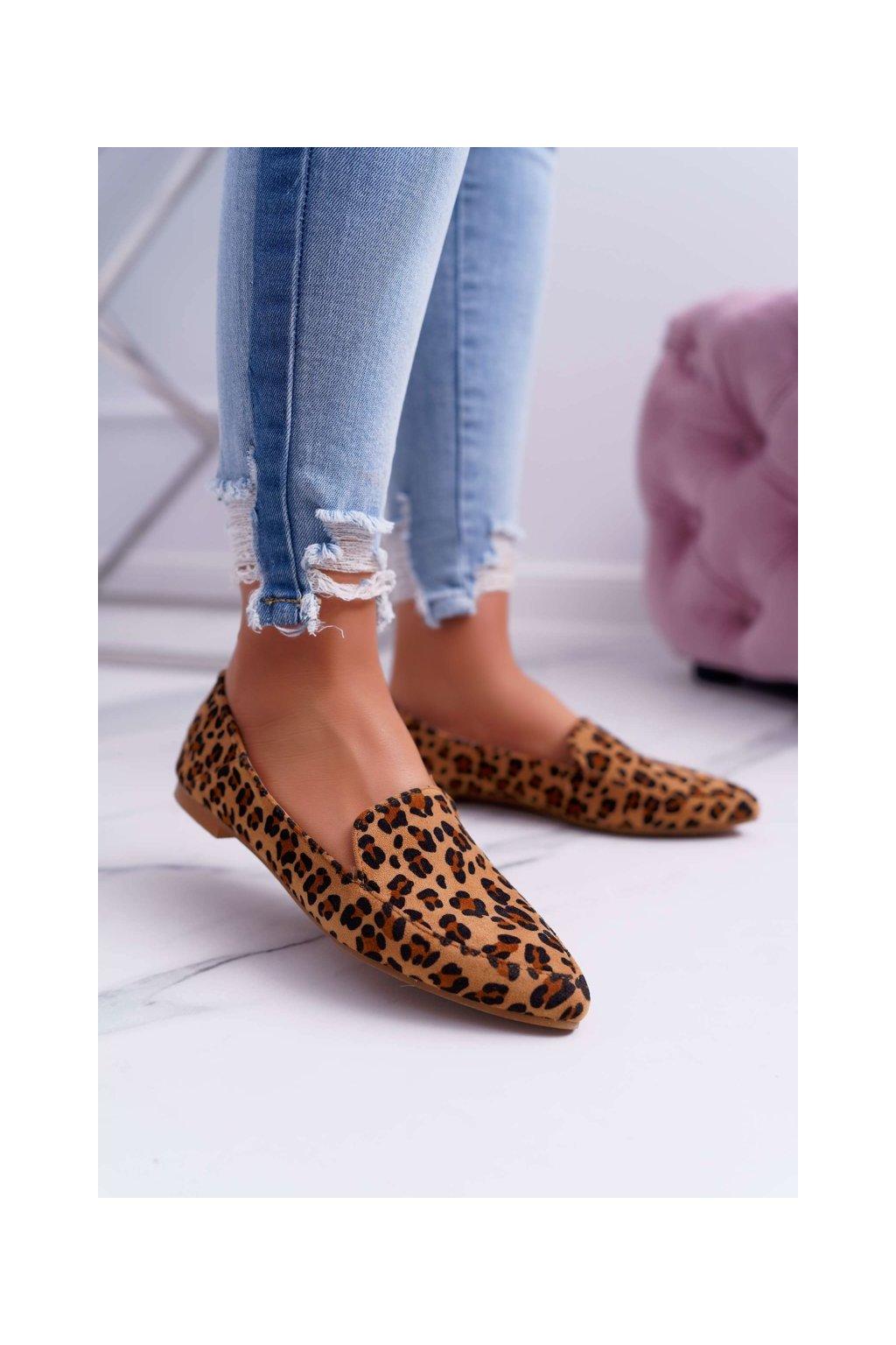 Dámske mokasíny farba hnedá kód obuvi 978-TT6 CAMEL