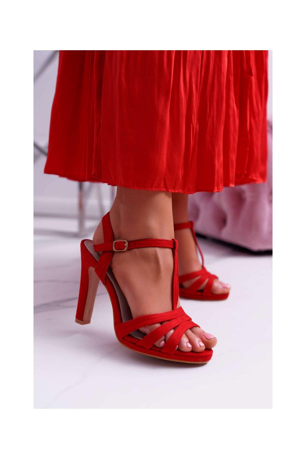 Dámske Sandále červené Silela