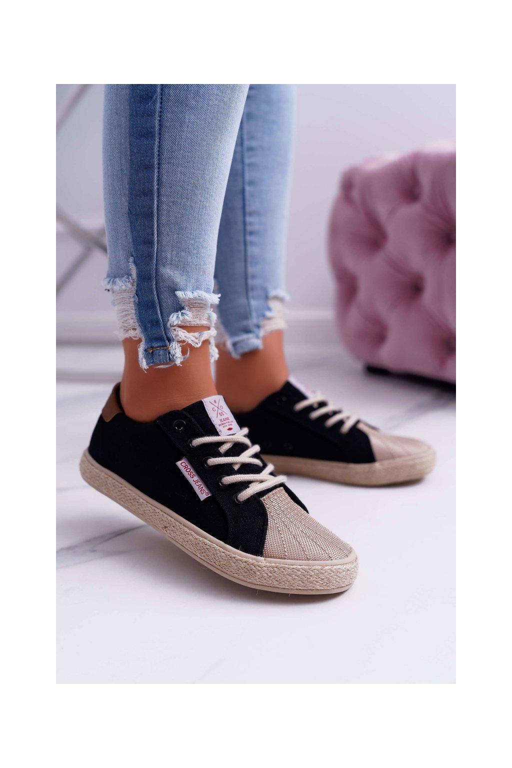 Nízke dámske tenisky Cross Jeans čierne DD2R4095