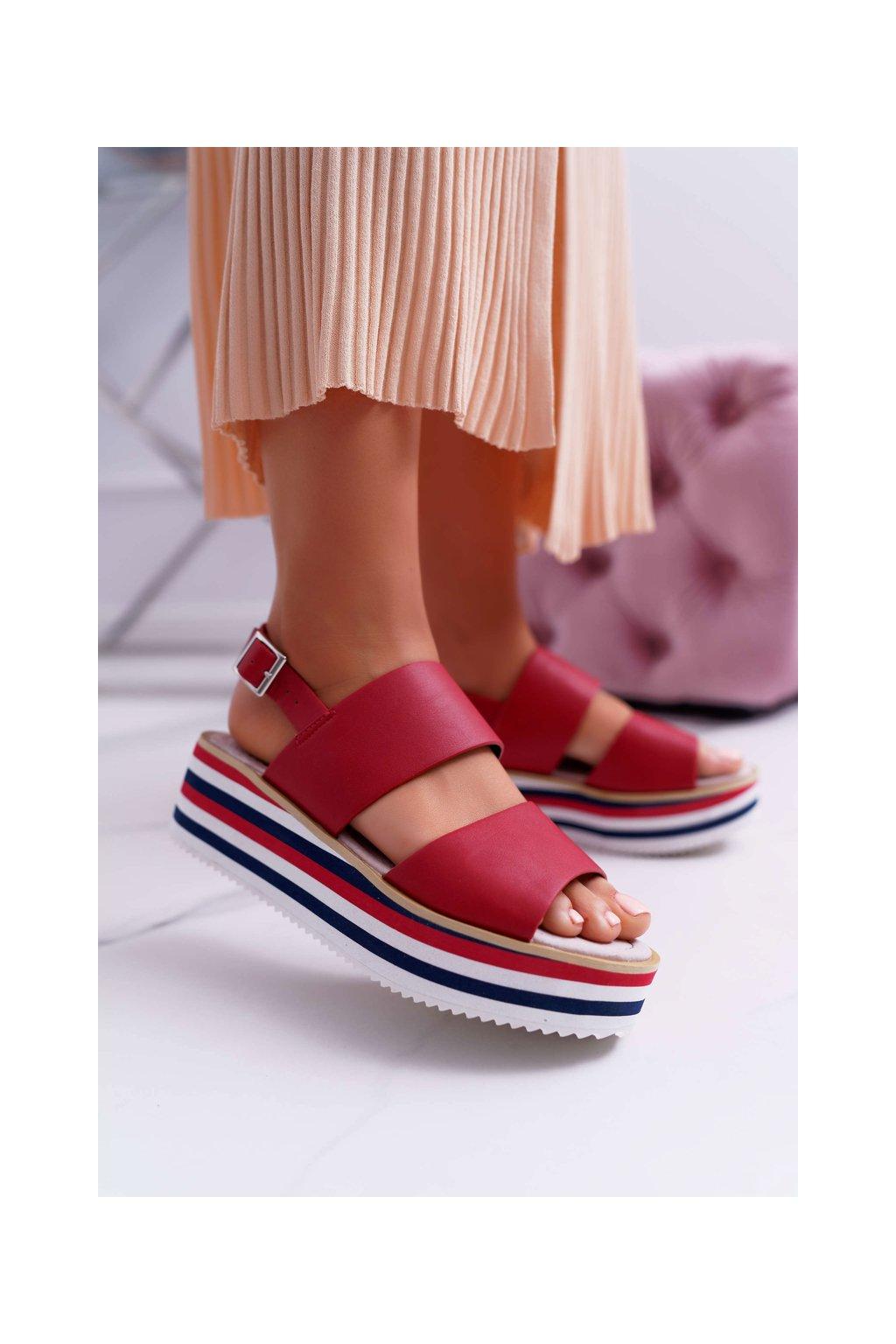 Dámske Sandále Červené Aurera