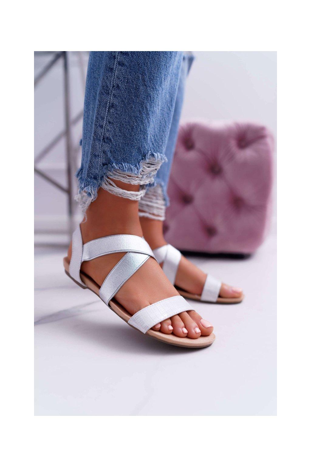 Dámske elegantné Sandále strieborné Carme
