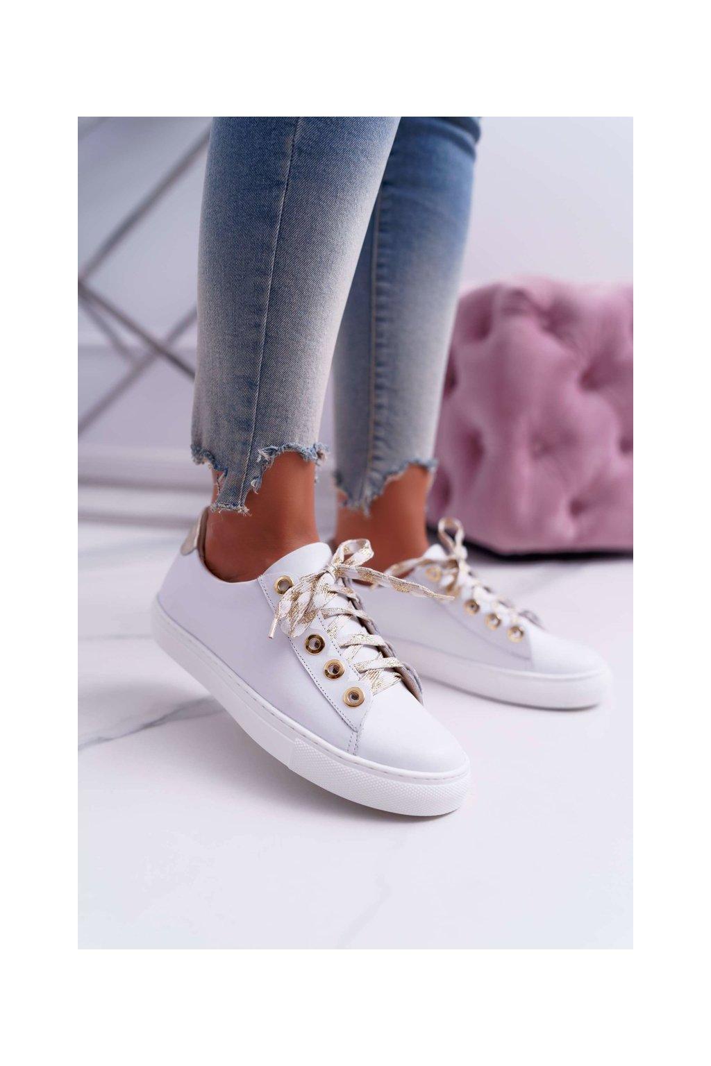 Dámske tenisky farba biela kód obuvi 2373 WHITE