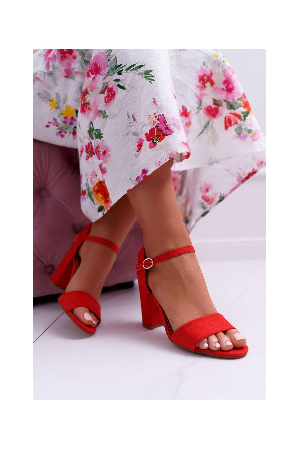 Dámske Sandále semišové Červené Baloo