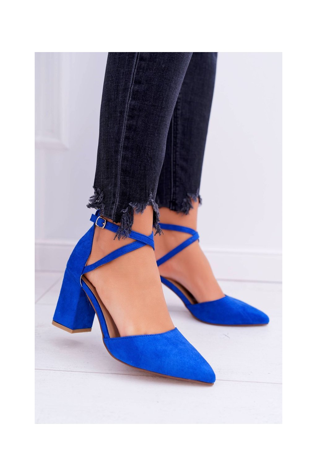 Dámske lodičky farba modrá kód obuvi NC900 BLUE